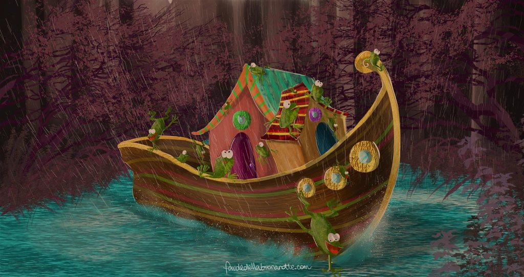 """Storia per bambini """"L'Arca Balena"""" su Favoledellabuonanotte.com"""