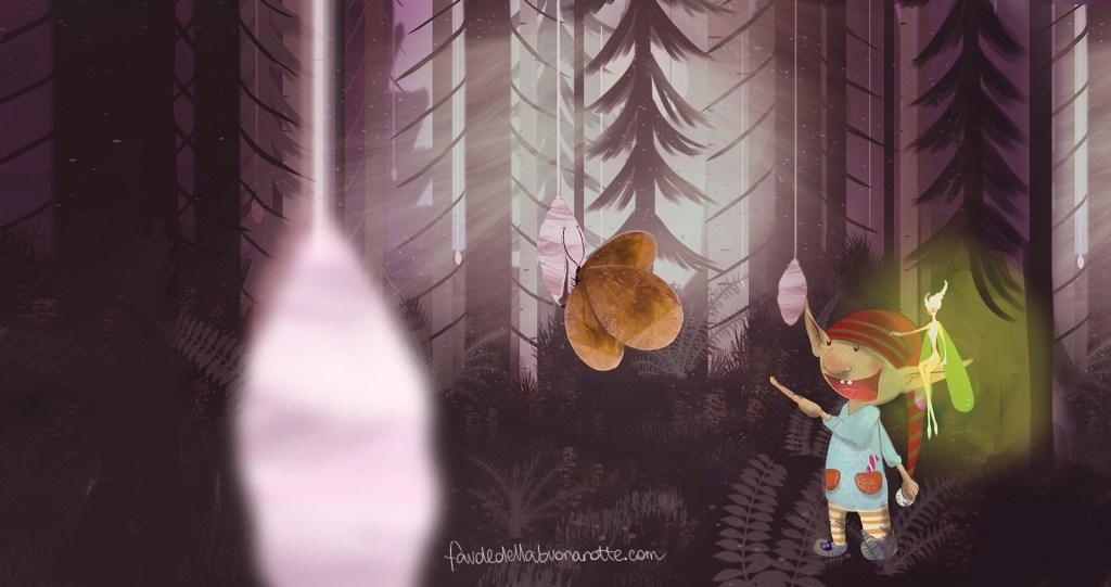 """Storia per bambini """"La storia delle farfalle e del loro vestito nuovo"""" su Favoledellabuonanotte.com"""