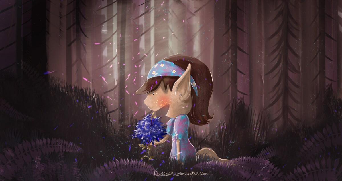 """Storia per bambini """"Il fiore blu!"""""""