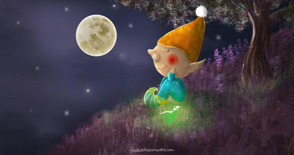"""Storia per bambini """"La ninna nanna della luna"""" su Favoledellabuonanotte.com"""