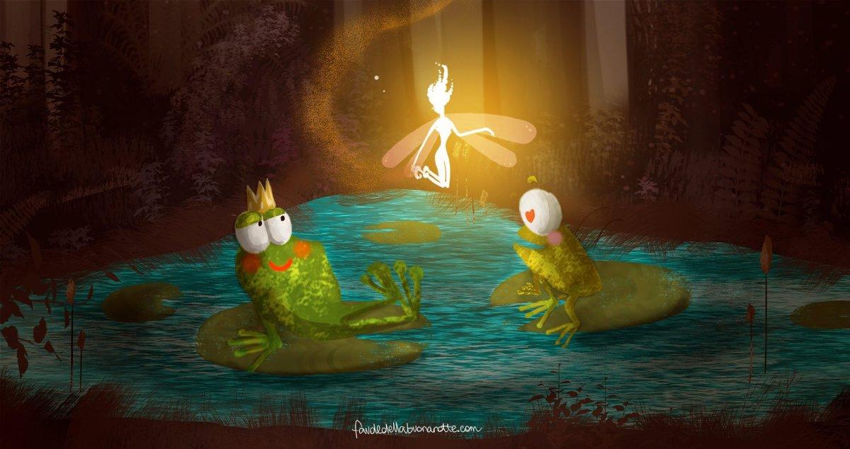 """Storia per bambini """"La felicità è nello stagno!"""" su Favoledellabuonanotte.com"""