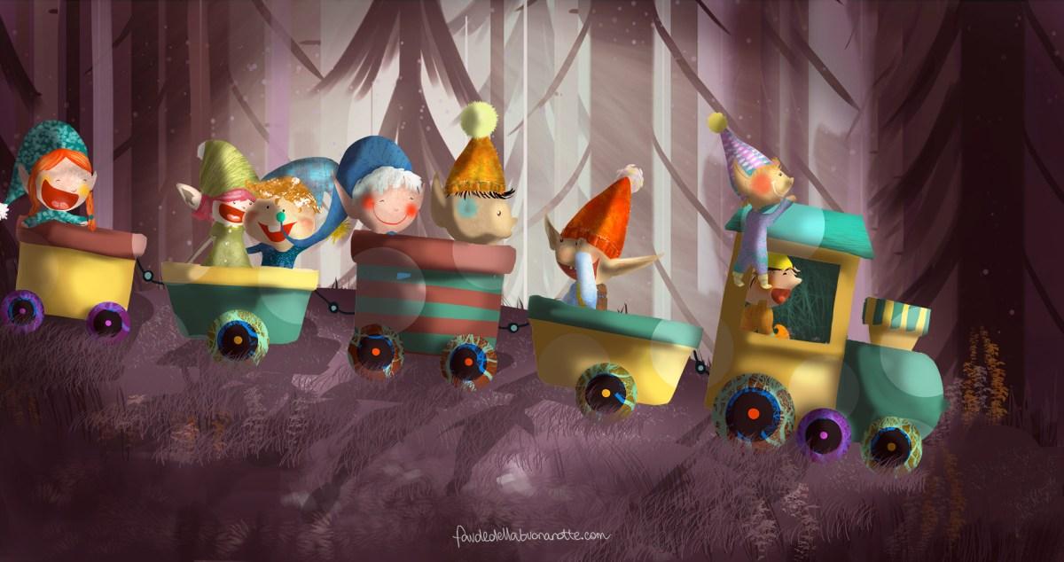 """Storia per bambini """"Il treno dei folletti"""" su Favoledellabuonanotte.com"""