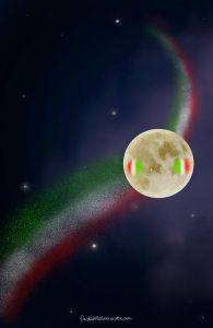 La luna di favoledellabuonanotte che tifa Italia
